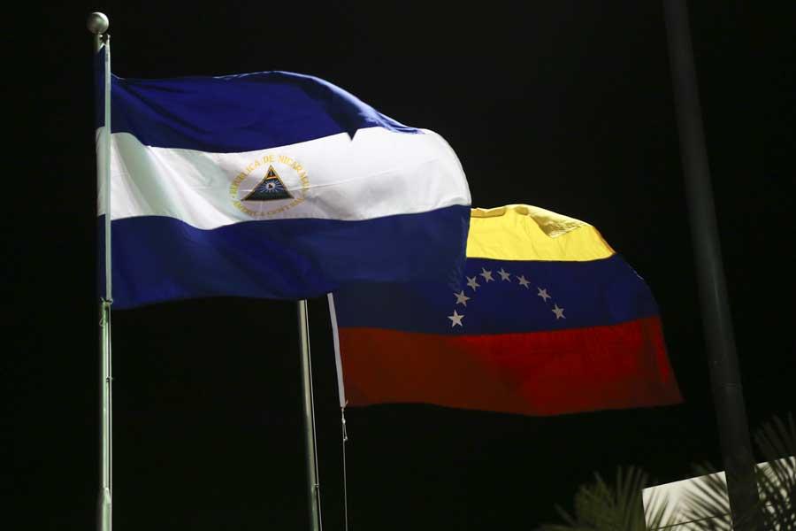 Ministro Arreaza recibe al presidente de Nicaragua Daniel Ortega G 20170305-02