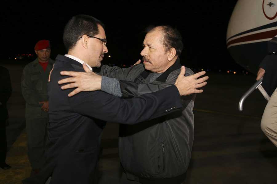 Ministro Arreaza recibe al presidente de Nicaragua Daniel Ortega G 20170305-05