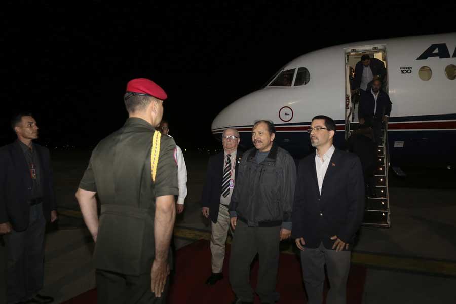 Ministro Arreaza recibe al presidente de Nicaragua Daniel Ortega G 20170305-09