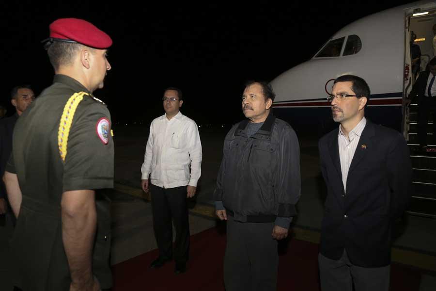 Ministro Arreaza recibe al presidente de Nicaragua Daniel Ortega G 20170305-10