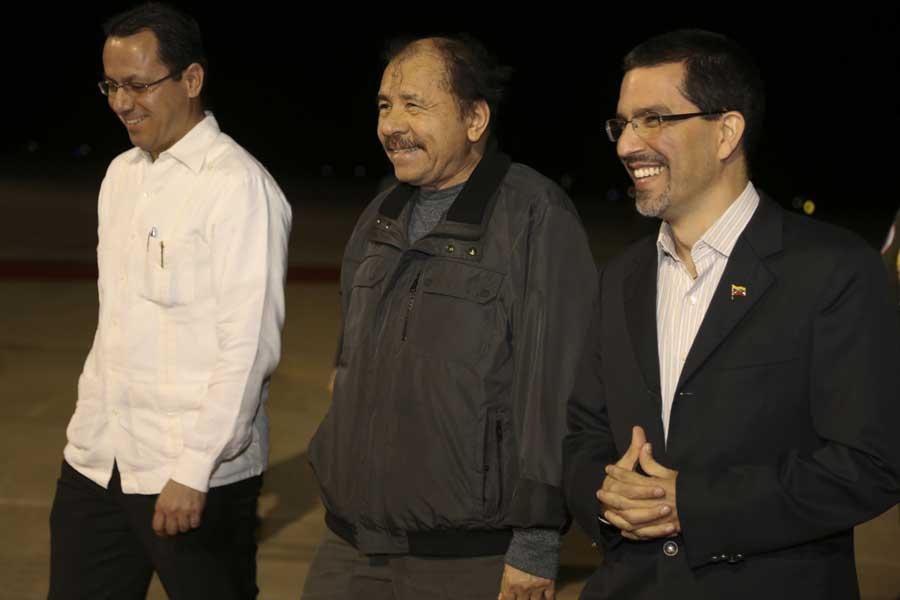 Ministro Arreaza recibe al presidente de Nicaragua Daniel Ortega G 20170305-12