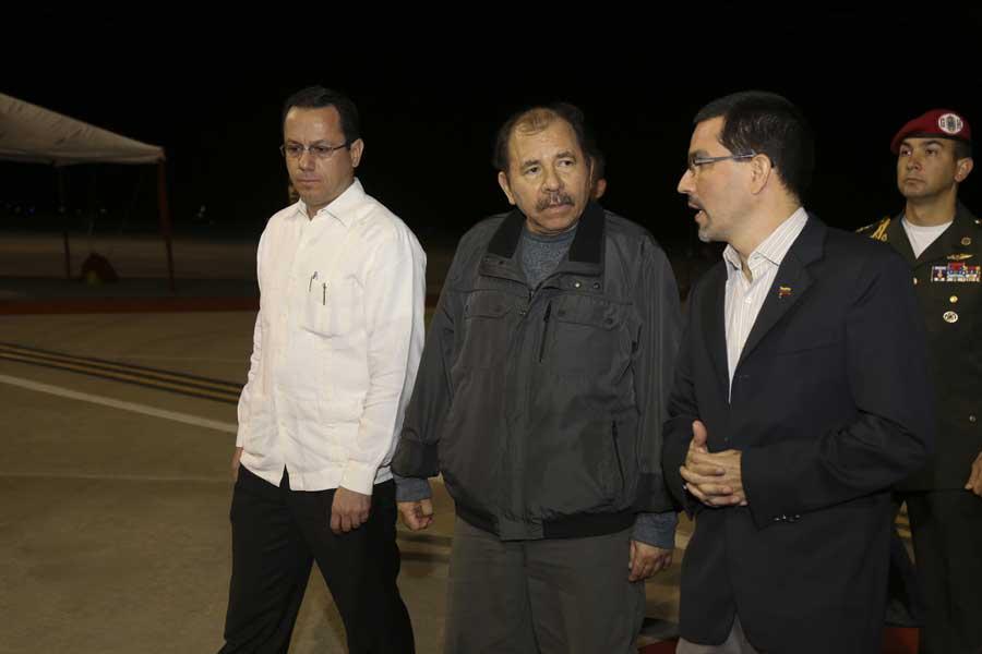 Ministro Arreaza recibe al presidente de Nicaragua Daniel Ortega G 20170305-13
