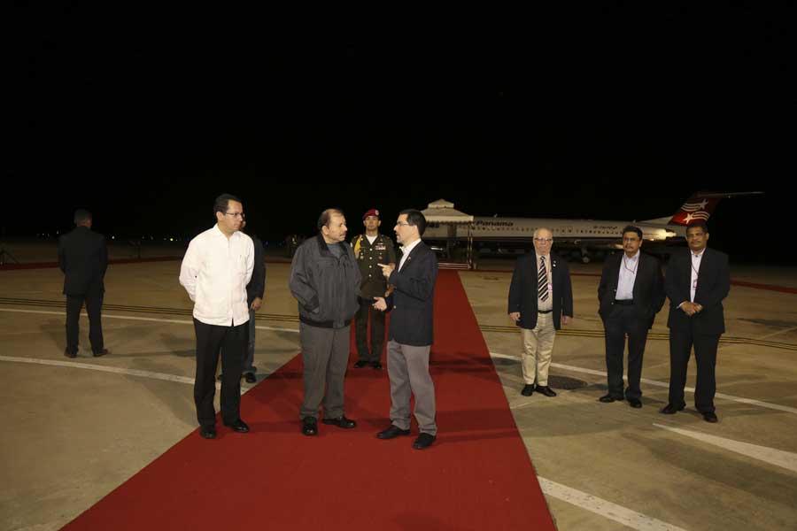 Ministro Arreaza recibe al presidente de Nicaragua Daniel Ortega G 20170305-15
