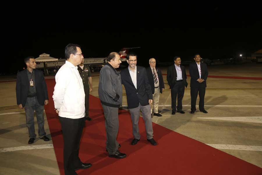 Ministro Arreaza recibe al presidente de Nicaragua Daniel Ortega G 20170305-18