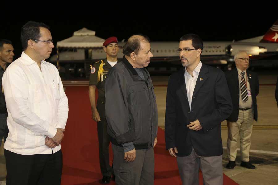 Ministro Arreaza recibe al presidente de Nicaragua Daniel Ortega G 20170305-19