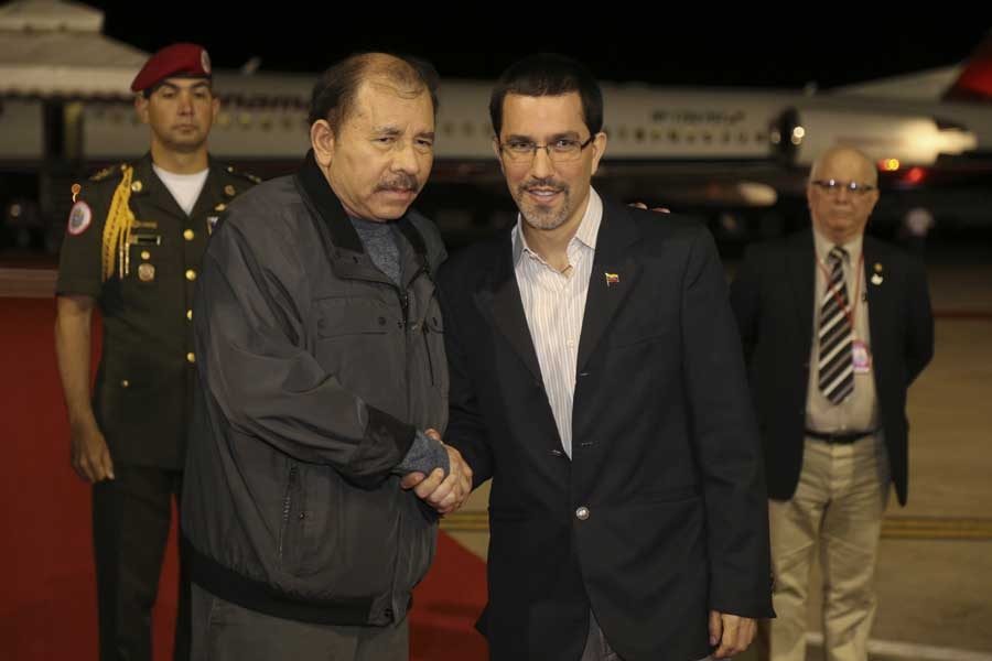 Ministro Arreaza recibe al presidente de Nicaragua Daniel Ortega G 20170305-20