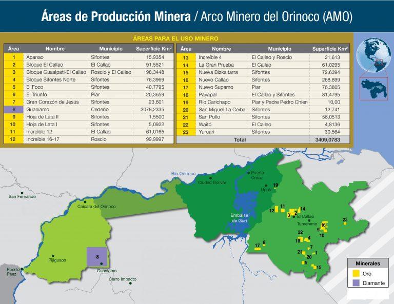 Áreas para el uso minero(general)23