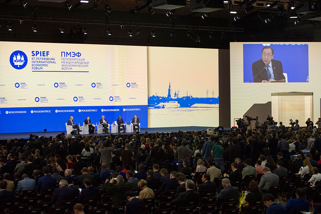 Ban-St.PetersburgEconomicForum